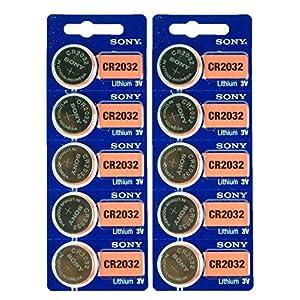 10Sony CR20322032Lithium 3V Armbanduhr Electronics Batterien