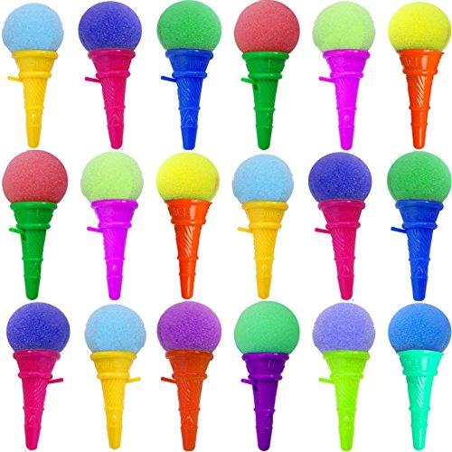 (German Trendseller® - 12 x EIS Cream - Party Shooter - für Kinder ┃ Kindergeburtstag ┃ Super Schusskraft ┃ Mitgebsel ┃ Popper ┃ 12 x EIS Creme)