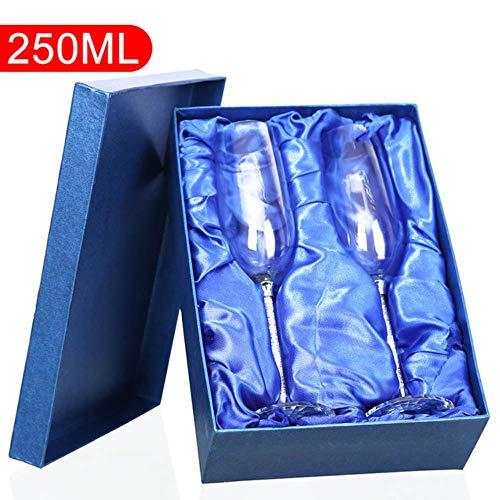 Cranky Orange 2pcs 250ml personalisierte Hochzeit Champagner Flöten Paar gravierte Flöten für Braut und Bräutigam Geschenk für individuelle Hochzeitsgeschenk-in Anderen Glas, 250whi