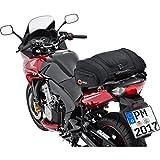 QBag Hecktasche Motorrad Hecktasche 05 Motorradgepäck für Soziussitz/Gepäckträger 22-30 Liter Stauraum leichtes Be-/Entladen inkl. Regenhaube schwarz