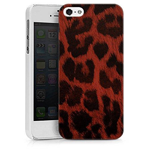 Apple iPhone X Silikon Hülle Case Schutzhülle Leopard Muster Leo Hard Case weiß