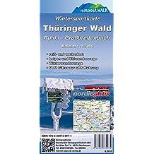 Wintersportkarte Thüringer Wald: Ruhla - Großbreitenbach