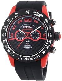 Nautec No Limit Herren-Armbanduhr XL Zero-Yon 2 Chronograph Quarz Kautschuk ZY2-H2 QZ/RBPCBKBK-RD