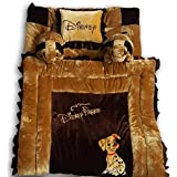 Pinks & Blues New Born Baby full sleeping bedding set with 2 side pillows in a shape of puppies. 0 - 30 months (CAMEL CHOCLATE)
