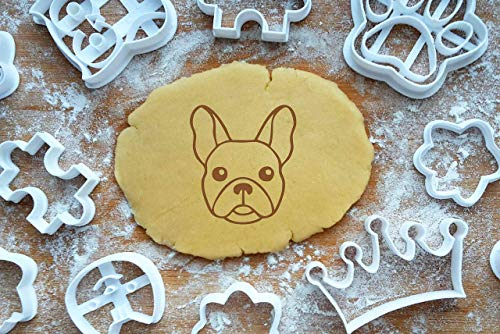 Französische Bulldogge Ausstechform 6cm Präge-Ausstecher 3D Keksausstecher French Bulldog Cookie Cutter Backen Fondant Plätzchen