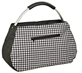 CHIC to GO Einkaufstasche Sunny Bag ca. 48 x 20 x 28 cm, schwarz/weiß mit Hahnentritt-Muster