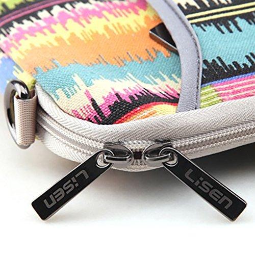 Baymate Bohème Stil Canvas-Gewebe Hülle Aktentasche Sleeve Tasche Für 11.6-15 Zoll Laptop 14 Zoll Tragbare