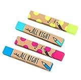 Leisial 4 Stücke Lang Farbradierer Radiergummis Gummi für Studenten Zufällige Farbe 8.2*1.2CM