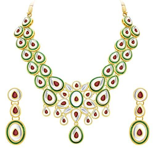 Sukkhi Fabulous Gold Plated Kundan Necklace Set For Women