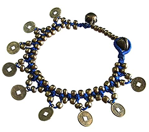 Thai Asian Fashion Art Handmade Adjustable Bracelet Wax String Brass