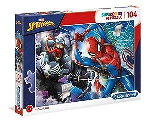 Clementoni Supercolor Puzzle-Spider man-104Unidades, Multicolor, 27117