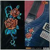 Rosa/rose rouge (abalone Rouge) Fleur incrustation Autocollant Stickers pour guitare et basse