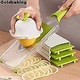 Business To Customer Goldbaking 4 Blade Adjustable Mandoline Slicer Fruit V Slicer Vegetable