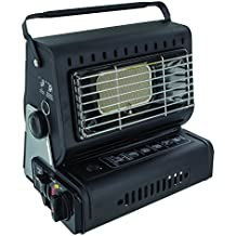 Highlander Camping Portable Compact Gas Heater - Black by Highlander