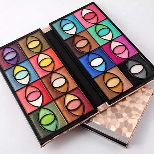RSKD Lidschatten Natürliche Mineral Cosmetic Glitter Professionelle Shimmer Lidschatten Makeup Set 80 Farben Eyeshadow Palette