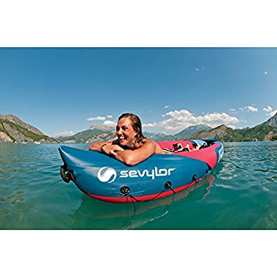 Sevylor Tahiti Plus 2+1 Man Canadian Canoe Inflatable Sea Kayak, 361 x 90 cm
