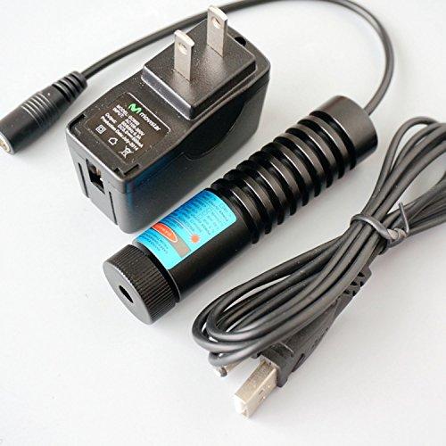 1500mw High Power Laser Modul 445 / 450nm 1.5W Blue Diode Dot Laser 12V / Adapter & 22x90mm