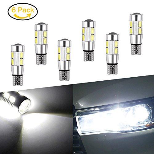 Preisvergleich Produktbild lianqi 6 BRIGHT Weiß Canbus Fehlerfrei T10 Projektor 10-smd LED Leuchtmittel mit Aluminium Kühlkörper Helle Auto Birne 194 168 147 152 158 159 161 184 192 193 2881 2825 L157