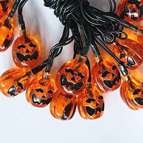 Lanterne decorative verdi all'aperto del giardino della stringa della luce della zucca della stringa decorativa di Halloween 20 luci bianche 骷髅