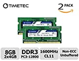 Timetec Hynix IC 8GB Kit (2x4GB) DDR3L 1600MHz PC3-12800 Unbuffered Non-ECC 1.35V CL11 - Best Reviews Guide