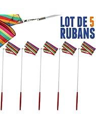 Lot de 5 Rubans de GRS 4 mètres Multicolores