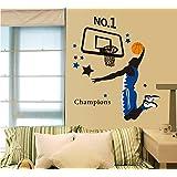 ufengke® Jugador de Baloncesto de la Clavada Pegatinas de Pared, Sala de Estar Dormitorio Removible Etiquetas de la Pared / Murales