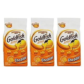 Pepperidge Farm Goldfish Baked Snack Crackers Cheddar 187g (Pack of 3)