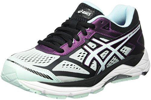 Asics Gel Foundation 12, Chaussures de Running Compétition Femme, Bleu Multicolore (Black/Soothing Sea/Phlox)