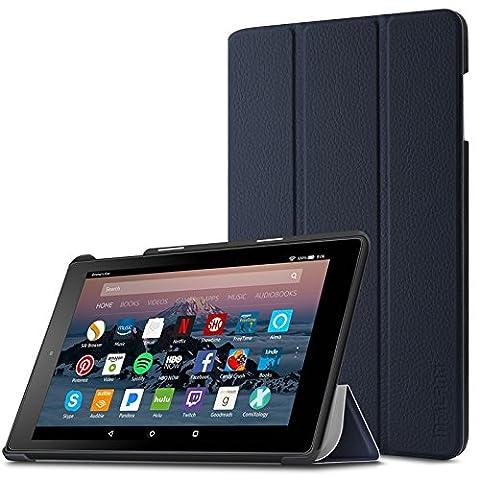 Hülle für Fire HD 8 (7. Generation - 2017) / das neue Fire HD 8 (6. Generation - 2016), Infiland Ultra Smart Slim Lightweight Schutzhülle mit Auto Schlaf / Wach Funktion Cover für Fire HD 8 (8-Zoll-Tablet, 7. Generation - 2017) / Das neue Fire HD 8 Tablet (6. Generation -