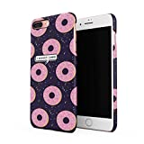 I Donut Care Sweet Pink Glazed Doughnut Pattern Dünne Rückschale aus Hartplastik für iPhone 7 Plus & iPhone 8 Plus Handy Hülle Schutzhülle Slim Fit Case cover