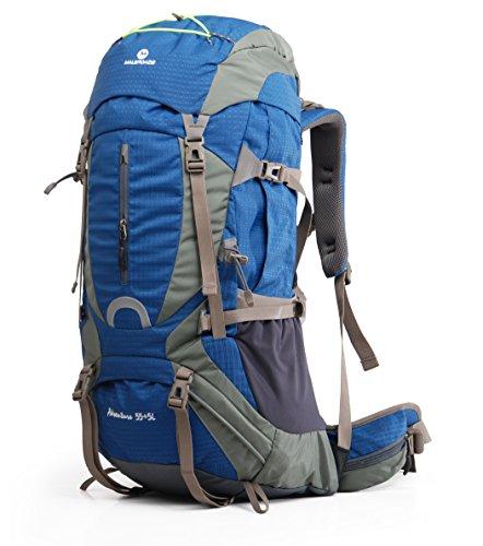 maleroads marca 60L zaino da escursionismo, professione cornice esterna mountain-climbing Zaino, Blue 60L, 60 litri