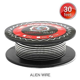 Alien Clapton Draht Widerstand Wire, Vapethink Fertigwicklungen Coil AWG(0.3x0.8mm Flat + 32GA), 10 Meters