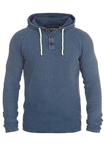 SOLID Ten Herren Kapuzenpullover Hoodie Sweatshirt aus 100% Baumwolle Meliert, Größe:L, Farbe:Dark Denim (1350) (Basic Dark-denim-jeans)