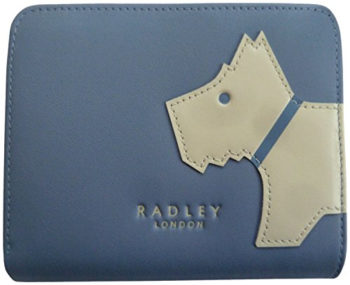 RADLEY 'Mono Dog' Lilac Leather Medium Tab Purse RRP £55.00