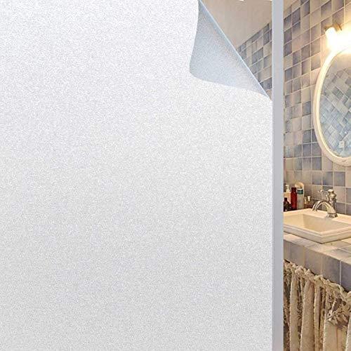 Rwest X Fensterfolie|Sichtschutzfolie|Milchglasfolie|Privatsphäre Sichtschutzfolie Fenster Blickdicht|Selbstklebend Statische Fensterfolien|Anti-UV Folie für Büro oder Zuhause -