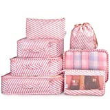 House of Quirk 7 Set of 3 Packing Cubes, 3 Pouches, 1 Toiletry