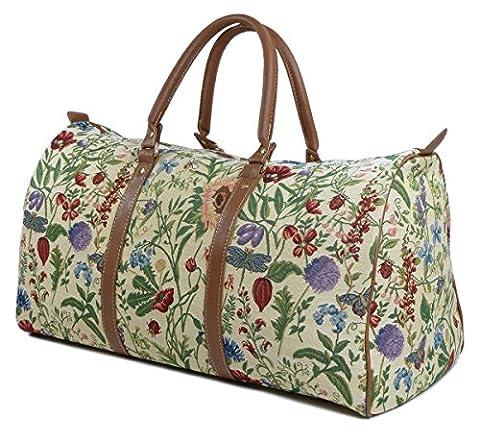 Weekend Reisetasche / Gepäck Tasche / Reisetasche (groß) Wilde Blume - Royaltex Gobelin Stil