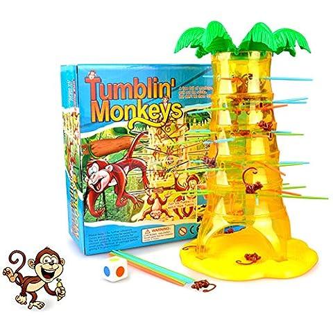 Mudent Family Brettspiel - Falling Monkey Spiel Spielzeug Kinder Falling Tumbling Klettern Brettspiel Familienspielzeug