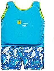 Highdas Kinderschwimm Float Suit Schwimmhilfe Neopren Anzug 2-teilig Mädchen Swim Trainer Wear