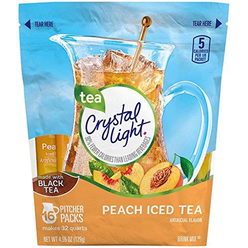 Crystal Light Peach Iced Tea Drink Mix Makes 32 Quarts 129g
