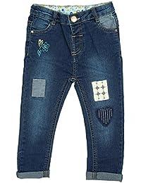 Filles Bébé En Âge Bas Patchwork Brodé Jeans Mode tailles à partir de 3 pour 24 Mois