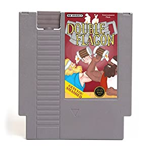 Double Flagon Video Game Cartridge Flask
