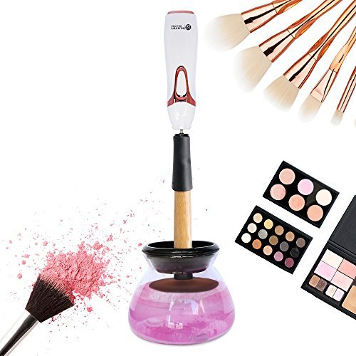 Makeup Brush Cleaner by Beautify Beauties Best Cleaner for Makeup Brushes Washes and Dries Brushes Instantly - Batteries Included