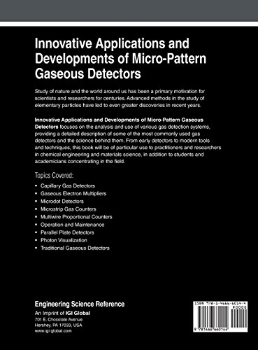 Innovative Applications and Developments of Micro-Pattern Gaseous Detectors (Advances in Chemical and Materials Engineering (Acme) Book Series)