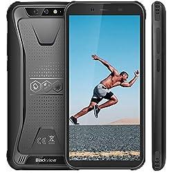 """Blackview BV5500 (2019) Móvil Libre Resistente IP68 Impermeable Smartphone de 5.5"""" (13.9cm) Dual SIM, 2GB + 16GB, Android 8.1, Doble Cámara de 13MP+0.3MP y 5MP, 4400mAh Batería GPS - Negro"""