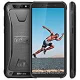 "【2019】Blackview BV5500 Rugged Smartphone IP68 Dual Sim da 16GB, 32GB Espandibili, Batteria 4400mAh, 5.5"" HD+ 2GB RAM, 13MP e 5MP, 3G Cellulare Android 8.1, GPS/Face ID/Bussola/WIFI-Nero[Italia]"