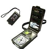 Aseun Outdoor multifunzione 10in 1militare campeggio sopravvivenza bussola con termometro igrometro LED luce lente di ingrandimento Whistle Flint Fire starter