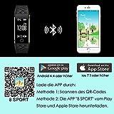 AsiaLONG Fitness Tracker mit Pulsmesser, Schrittzähler Uhr Fitness Armband Wasserdicht Aktivitätstracker mit Schlafmonitor, herzfrequenz, Kalorienzähler, Vibrationsalarm Anruf SMS Whatsapp Beachten mit IOS Android Smartphones (Upgrade Version) - 9