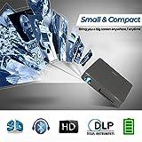 Wireless 3D DLP projecteur Bluetooth 4,0 Dual WiFi AirPlay Miracast Built-in Batterie-pour la Maison Cinema Theater School Bureau PPT Pr¨¦sentation Camping Utilisation (UK Plug)