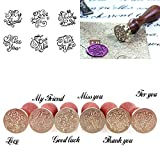 calistouk Best Wishes Muster Siegelwachs Stempel Retro Stil DIY Holz Mental Hochzeit Umschlag Dekoration For you